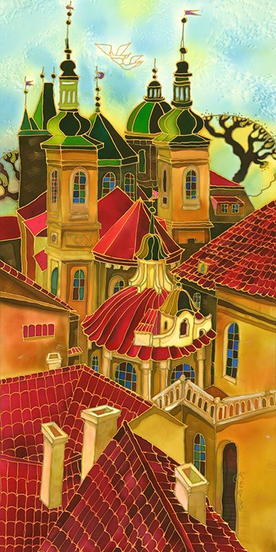 Red Roofs ~ Prague ~ Yelena Sidorova