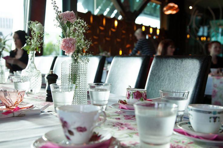 Arborio Restaurant bringing out their beautiful tea cups