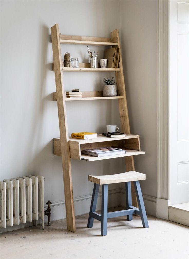 Our Hambledon Desk Ladder updated to include a desk with a laptop tray