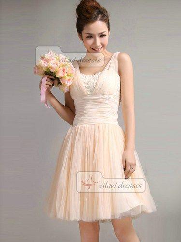 Beautiful Bridesmaid Dress A-Line Straps Draped Bridesmaid Dresses | VILAVIdresses -  on ArtFire