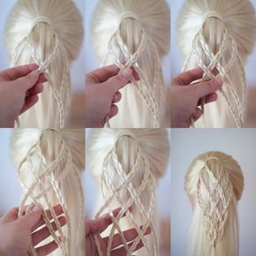 woven micro braided ponytail