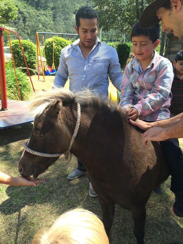 Ensillando el caballo....