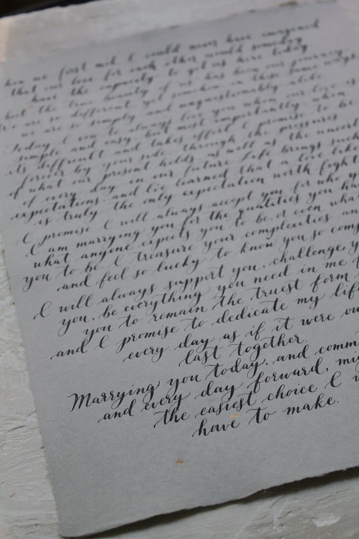 Calligraphy vows | First anniversary gift | wedding vow calligraphy | love letter in calligraphy by Golden Hour Paper