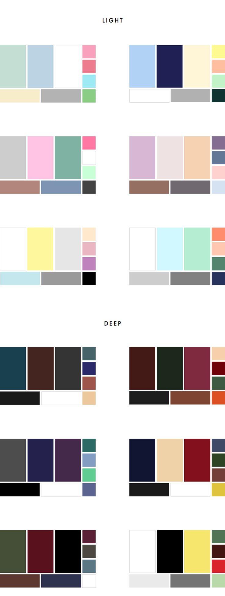 How to choose a versatile colour palette for your wardrobe (incl. 36 sample colour palettes) | INTO MIND