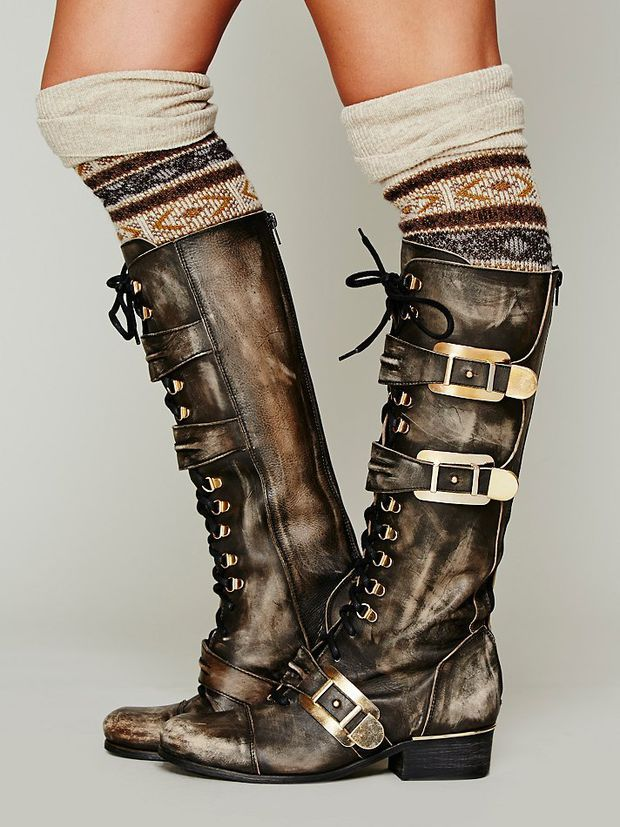 Kantell Lace Up Boot / post apoc distressed