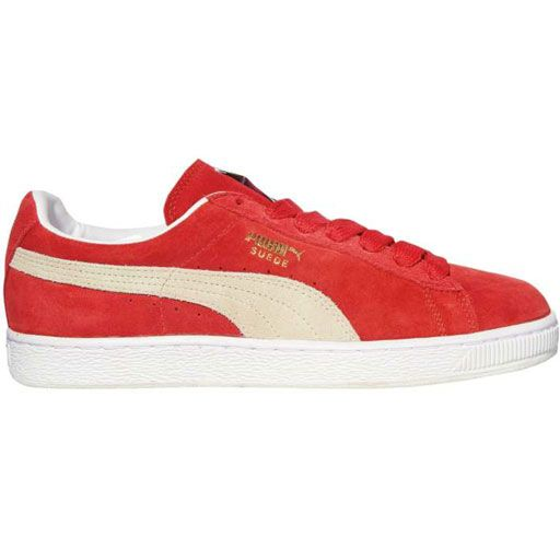 Puma Suede Classic Plus Shoes (High Risk Red/White) $46.95