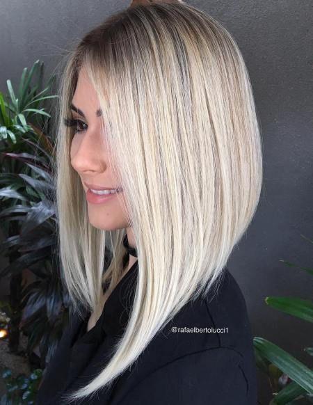 40 Banging Blonde Bob and Blonde Lob Hairstyles | Angled bob hairstyles, Long bob hairstyles, Lob hairstyle