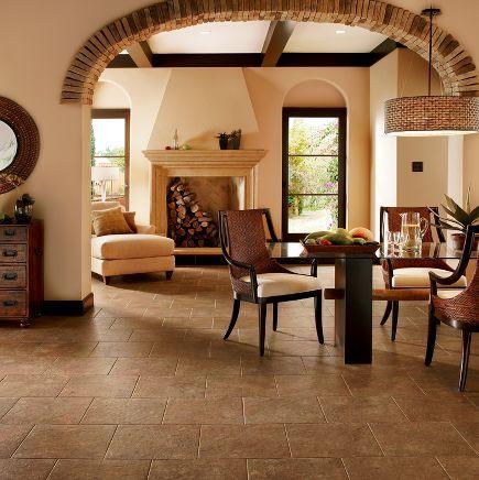 Armstrong Luxury Vinyl Tile, Terracota
