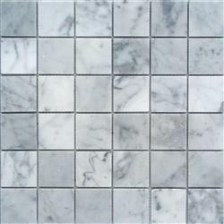 "Stone Mart USA's 2""x2"" Carrara White Mosaic Honed Marble Mosaic Tiles"