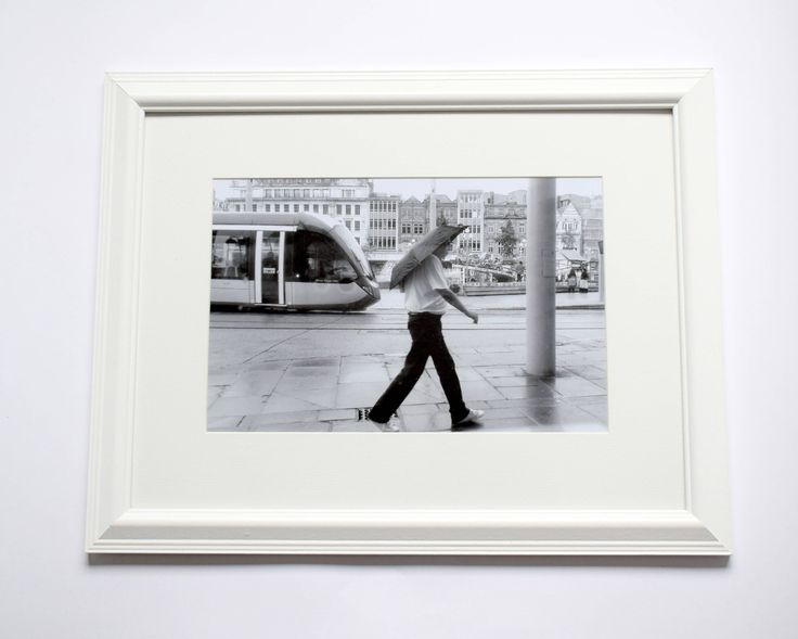 Nottingham Old Market Square, 12x16 Framed Wall Art, Black & White Print, Street Photography by ievaGallery on Etsy