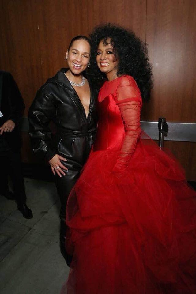 Alicia Keys And Diana Ross At The 2019 Grammy Awards Diana Ross