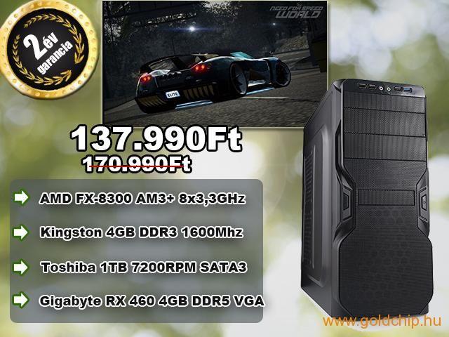Egy gigaerős gamer asztali számítógépre vágyik? Akkor ezt ne hagyja ki! http://www.goldchip.hu/Uj-8-magos-GAMER-AMD-FX-8300-8x3-3GHz-4GB-DDR3-RAM-PC-d30927.htm