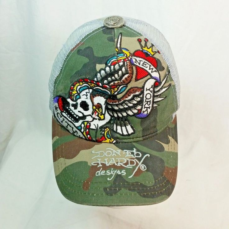 Front - Embroidered New York City, Skull, Eagle Wings. Cap Is Dirty, Stained, Not Pristine Clean. Mesh Style Cap. Well Worn, Out Of Shape. | eBay!