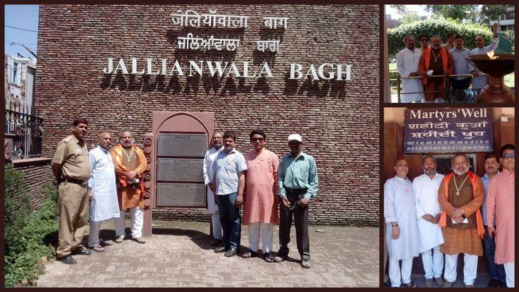 Sh. Jai Bhagwan Goyal at Jallianwala Bagh in Amritsar, Punjab  BJP Leader Sh. Jai Bhagwan Goyal with Party Members Visit Jallianwala Bagh in Amritsar, Punjab.  Where Sh. Jai Bhagwan Goyal Remember the Martyrs of Jallianwala Bagh massacre.