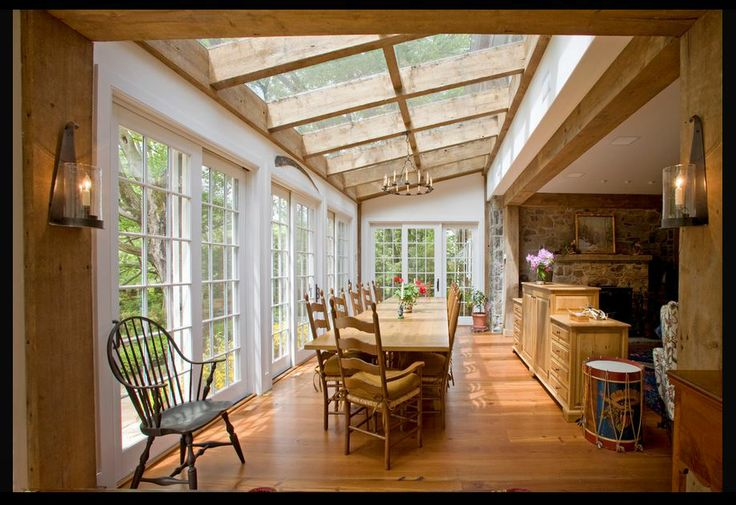 17 best images about sunroom ideas enclosed porches on for Farmhouse sunroom ideas