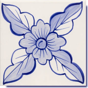 delft blue tile  -  maybe an applique quilt block?