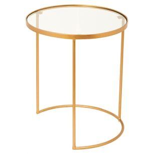 Tafel Rond Glas Large, Goud, medium