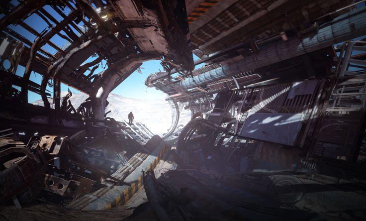 ArtStation - Space Ship Wreckage 01, Tyler Smith