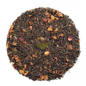 Este té rojo pu-erh está compuesto por trocitos de fresa, manzana, hibisco y nata soluble. Ideal para disfrutar en cualquier momento del día.