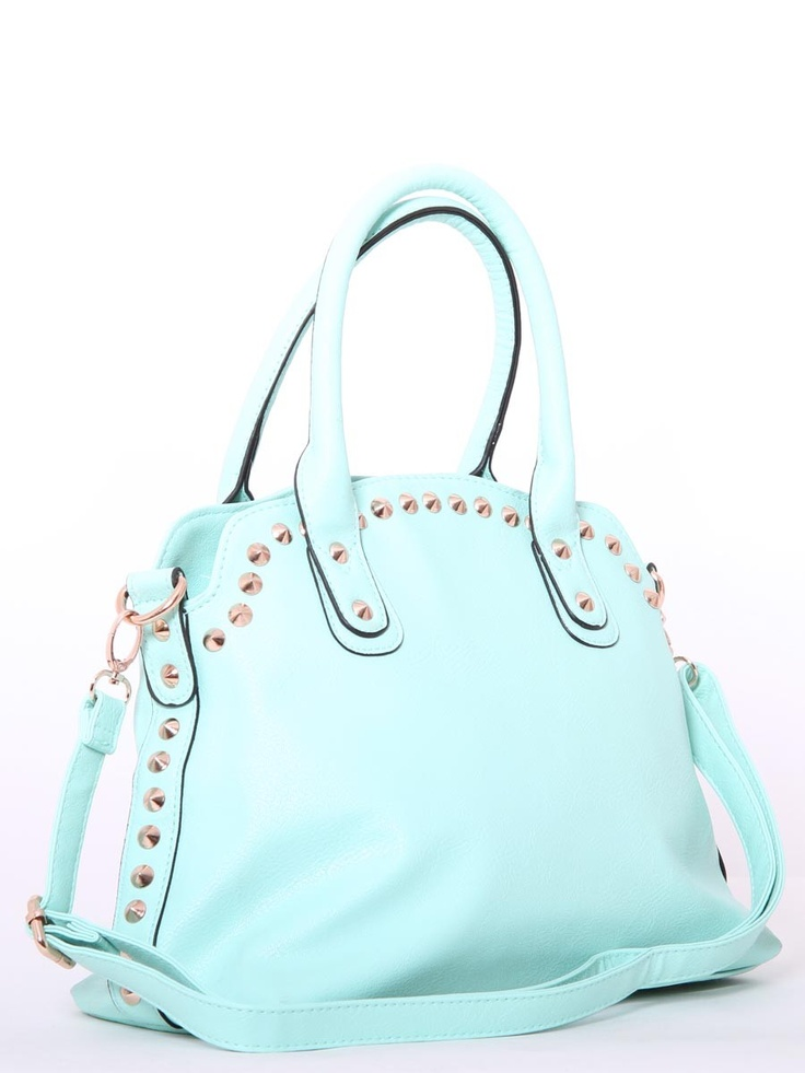 NEED to have this in my life!!! #Mint #Studded Handbag