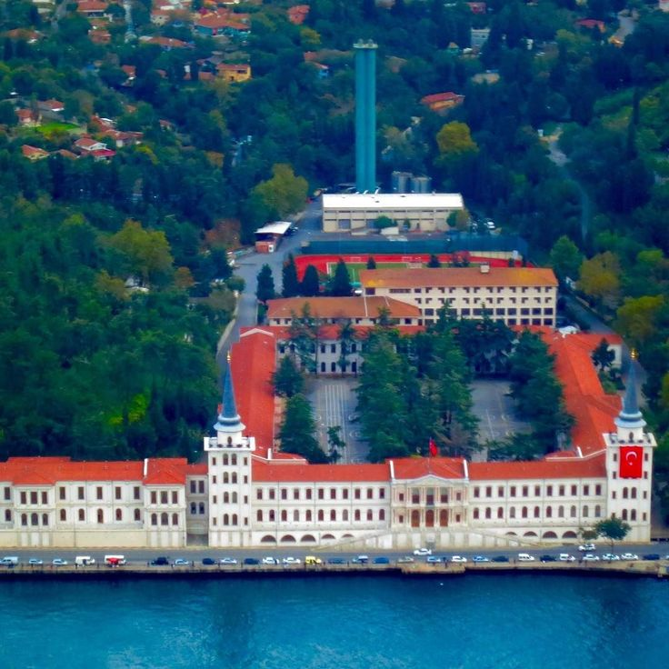 An aerial view of the Kuleli Military High School in Istanbul. This where I personally got my high school education. One of the best locations in town.