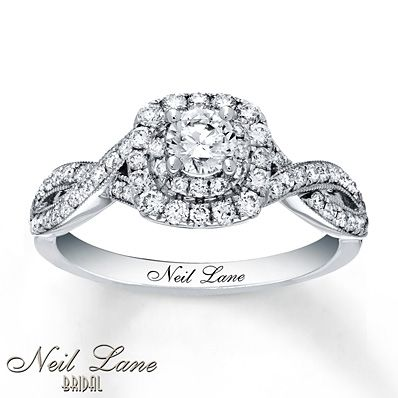 Neil Lane Engagement Ring 7 8 Ct Tw Diamonds 14k White