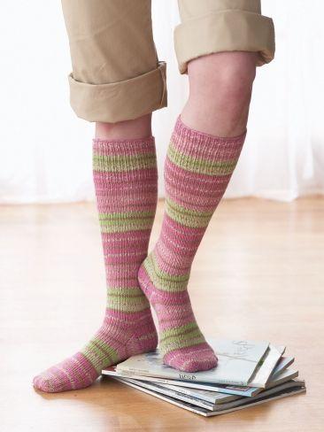 Free Knitting Pattern Knee High Socks Very Simple Free Knitting