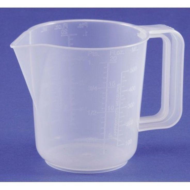 #eBay#1 Pint#Plastic#Measuring Jug Handle#Clear Mixing#Mug Kitchen#Laboratory#Oz Fl Ml