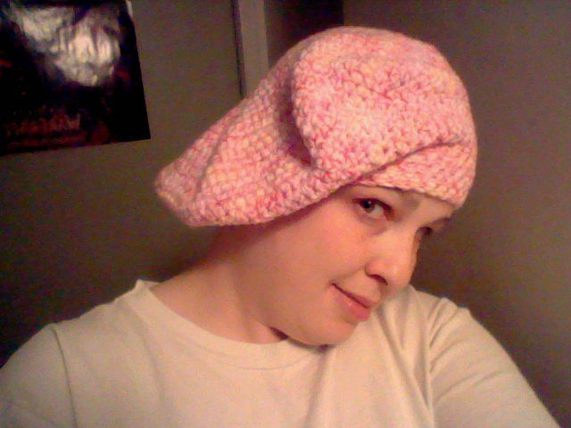beret pattern by video by pinkie on youtube
