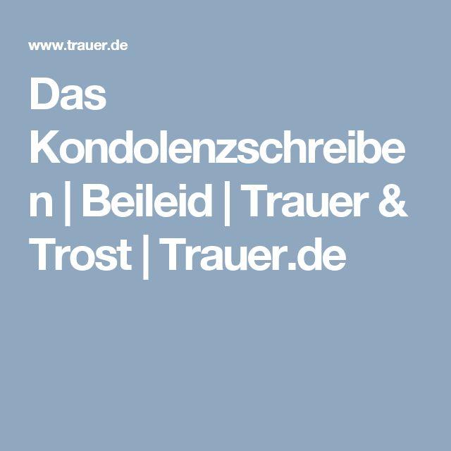 Das Kondolenzschreiben | Beileid | Trauer & Trost | Trauer.de