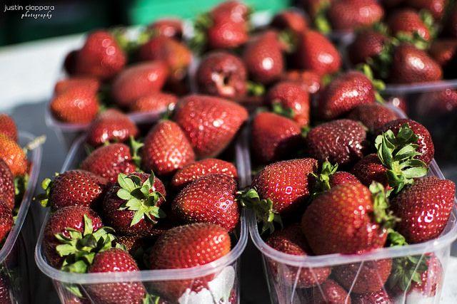 Strawberries at Ta'Qali, Farmers Market, Malta