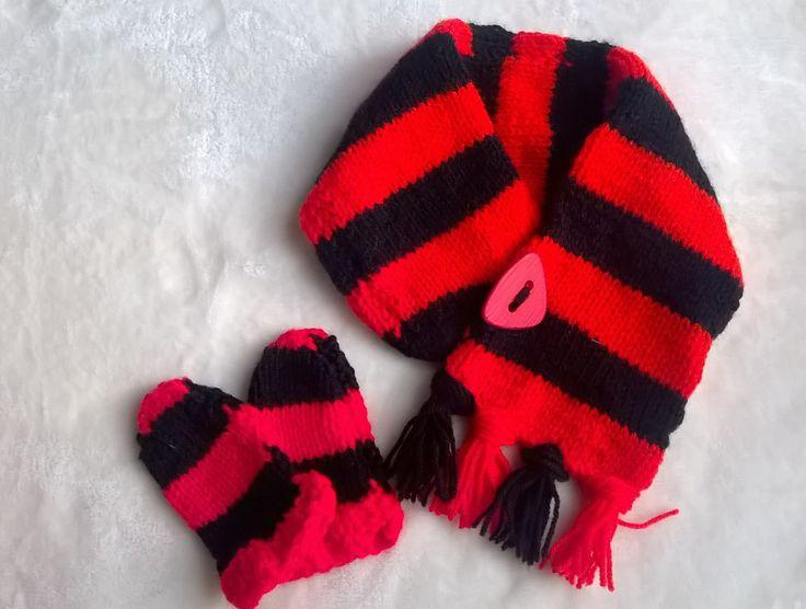 Baby scarf & mitten set