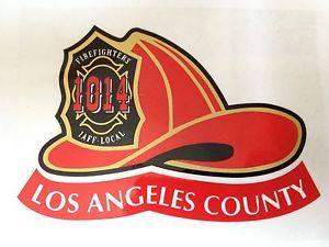 LOS ANGELES COUNTY FIRE HELMET DECAL STICKER