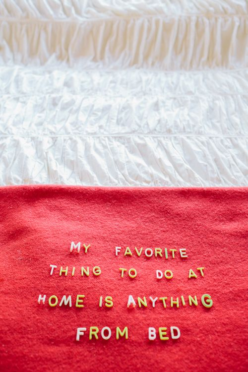 Anything in Bed / Image via: Design Sponge #relax #calm