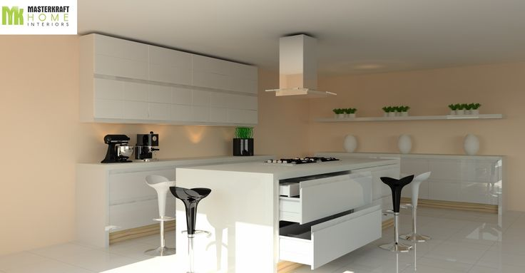 Design 3 (High end Modular Kitchen Design by MasterKraft Home Interiors)