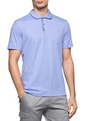 Calvin Klein Men's Short Sleeve Slub Interlock Polo - Jacaranda - 2Xl