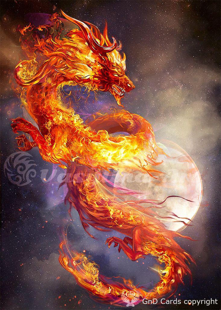 Fire dragon by Vasylina