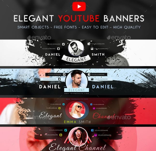 Youtube Banner Size Template Download