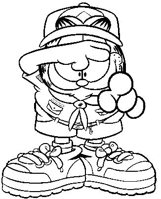 Kleurplaten van Garfield