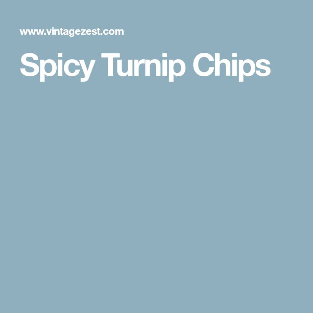 Spicy Turnip Chips