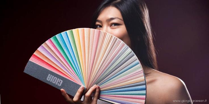 Ventaglio di Gioia, scegli il tuo colore facilmente, con un catalogo leggero e trasportabile. Fatto con prodotto reale, è adatto per presentare le 140 tinte di Gioia. #giorgiograesan #gioia #colore #pittura #decorazione