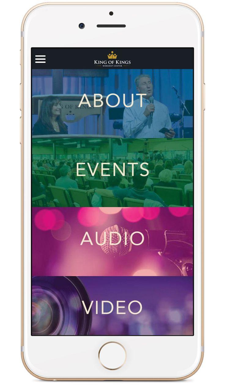 King of King's Worship Center's custom church app built by Tithe.ly - #churchapps.  Get a custom church app for you church - $0 setup and $0 for first six months!  http://get.tithe.ly/mobile-church-app/  #mobileapp #churchapp #mobiledesign #appdesign #appsforchurches #churchapps