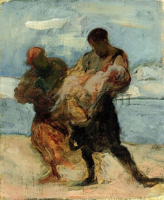 honore daumier- the rescue- c. 1870