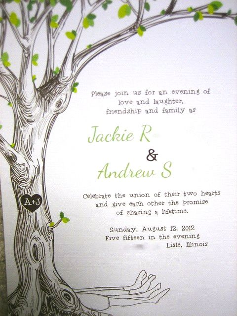 Giving Tree wedding invitations