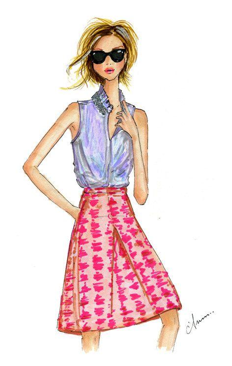 Fashion Illustration Print, J.Crew