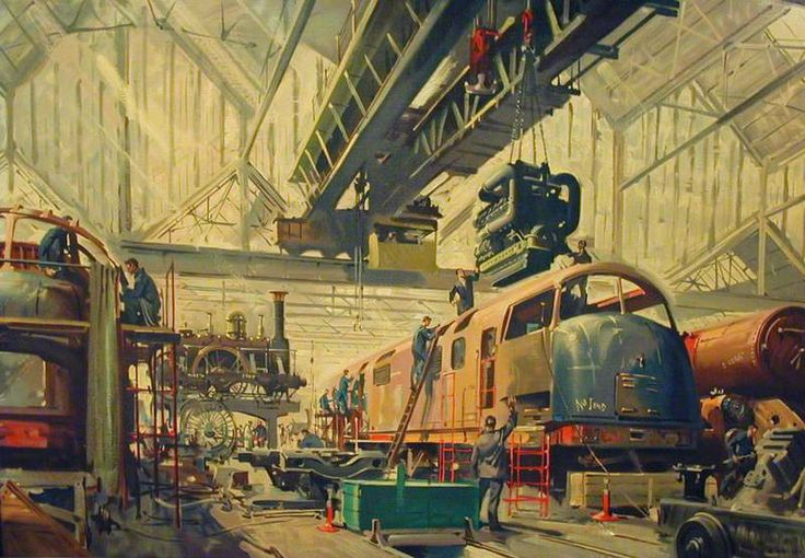 Progress (British Railways poster artwork) by Terence Tenison Cuneo