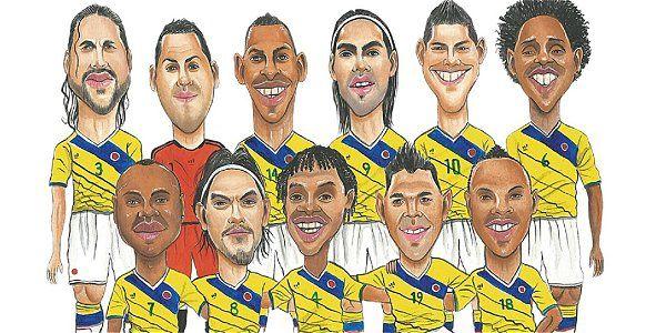 Guaico ilustró a los jugadores de la Selección Colombia que irán al mundial…