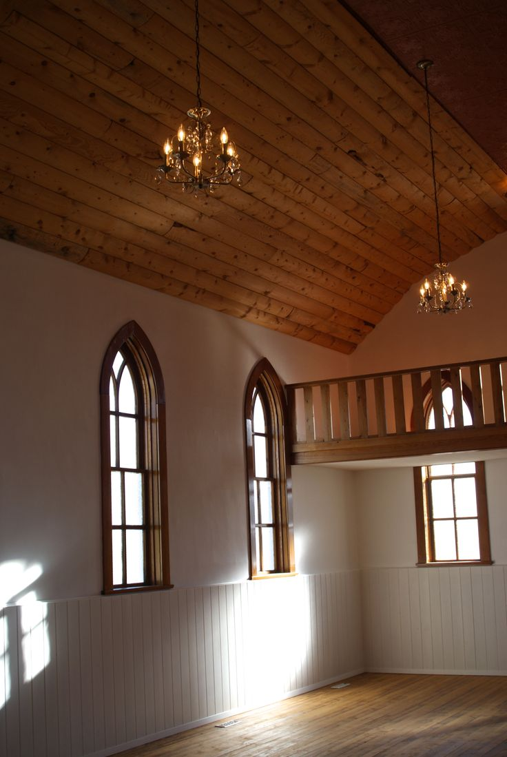 Wonderful natural light through original windows. Water Valley Church
