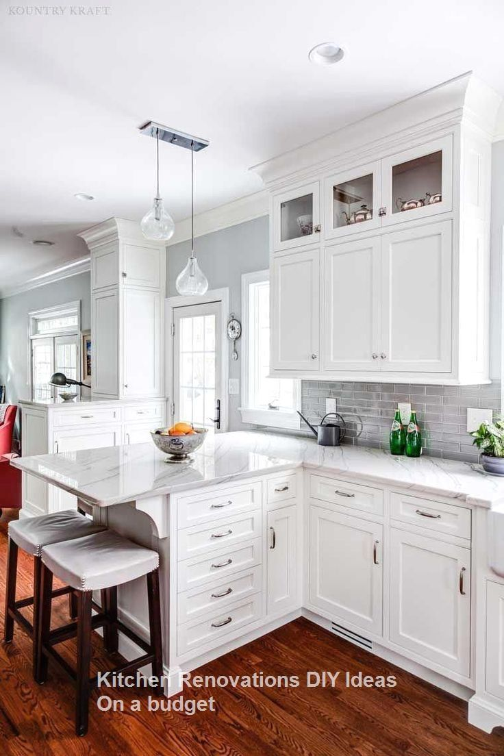 10 Diy Solutions To Renew Your Kitchen Kitchenrenovation Kitchenideas White Kitchen Cabinet Best Kitchen Cabinets White Kitchen Design Kitchen Cabinet Design