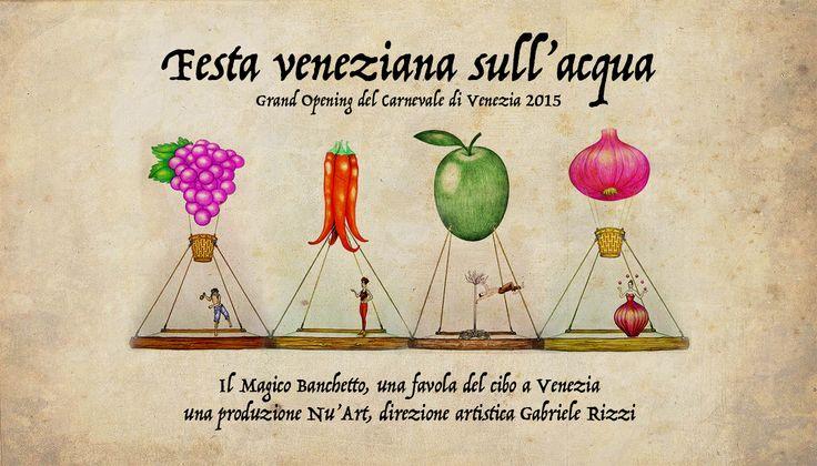 """Locandina """"Festa veneziana sull'acqua"""" - by Nu'Art www.nuart.it"""